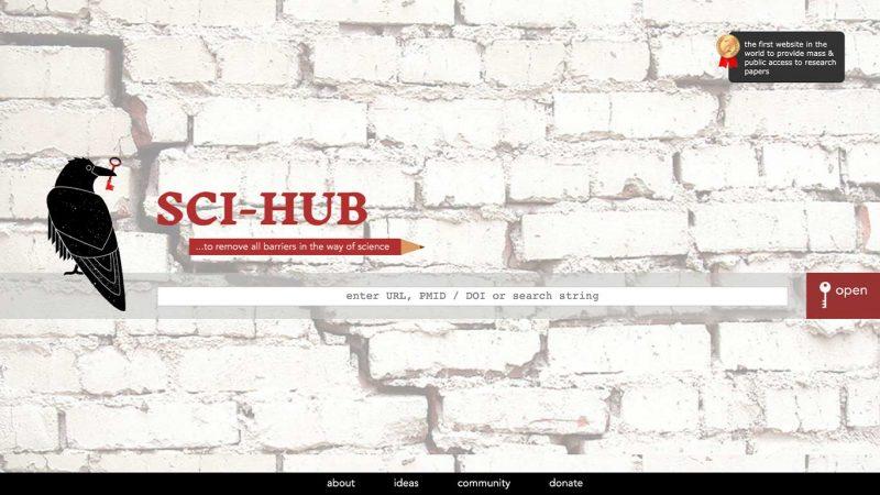 وبسایت شش: سای هاب (sci-hub.se)