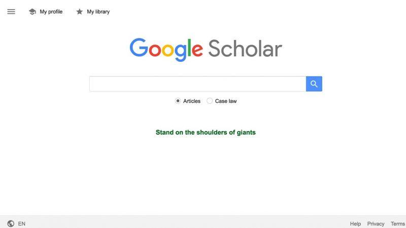 وبسایت دو: گوگل اسکولار (Google Scholar)