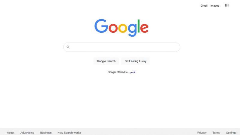 وبسایت یک: گوگل (Google.com)
